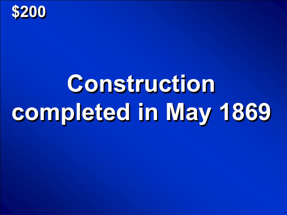 © Mark E. Damon - All Rights Reserved $200 Construction completed in May 1869