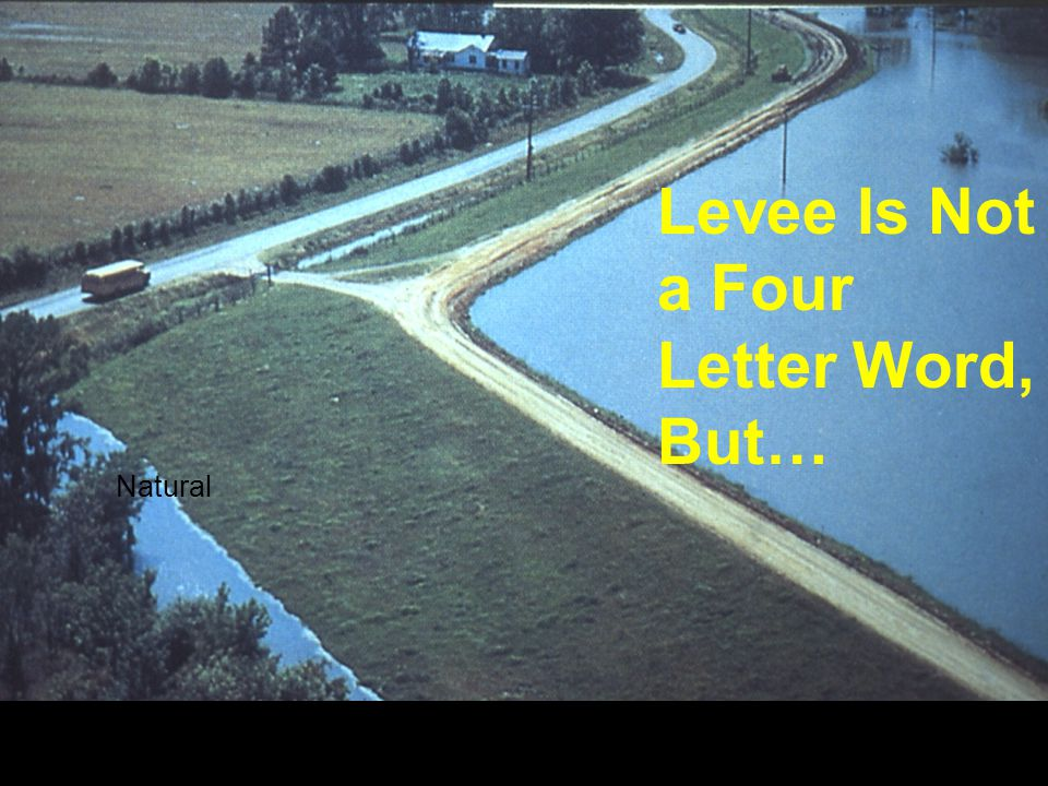 Levee Is Not A Four Letter Word…but Levee Is Not a Four Letter Word, But… Natural