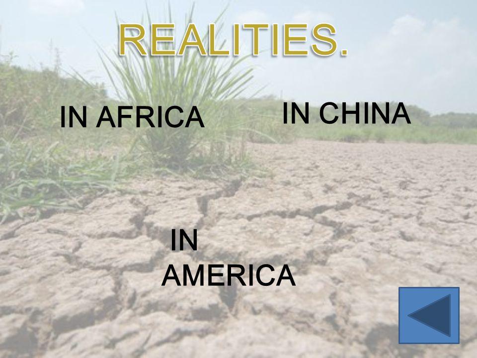 IN AFRICA IN CHINA IN AMERICA