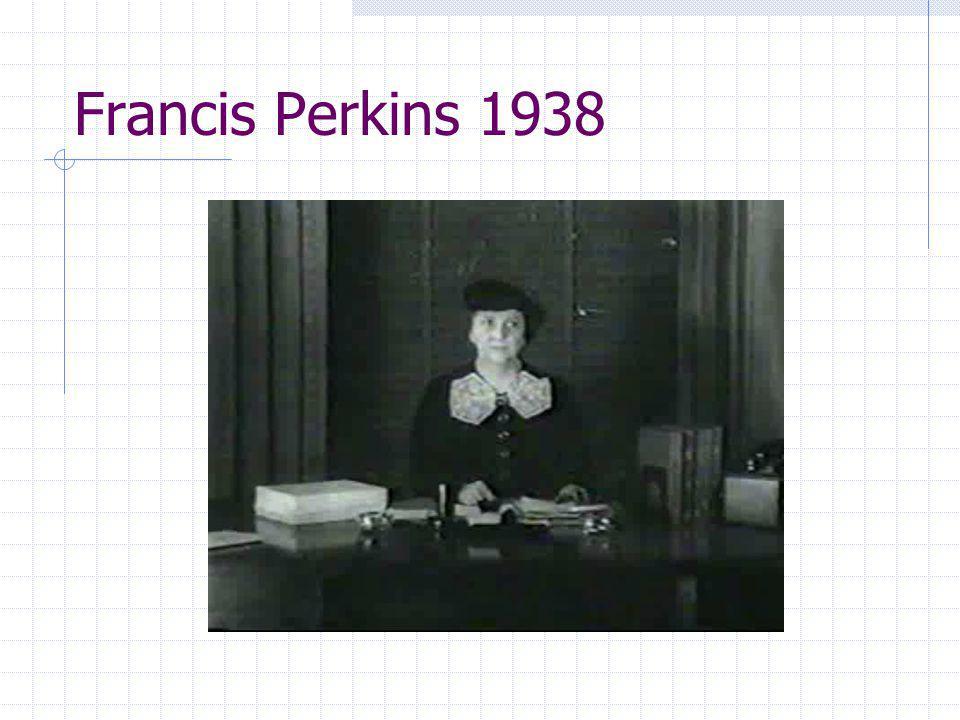 Francis Perkins 1938