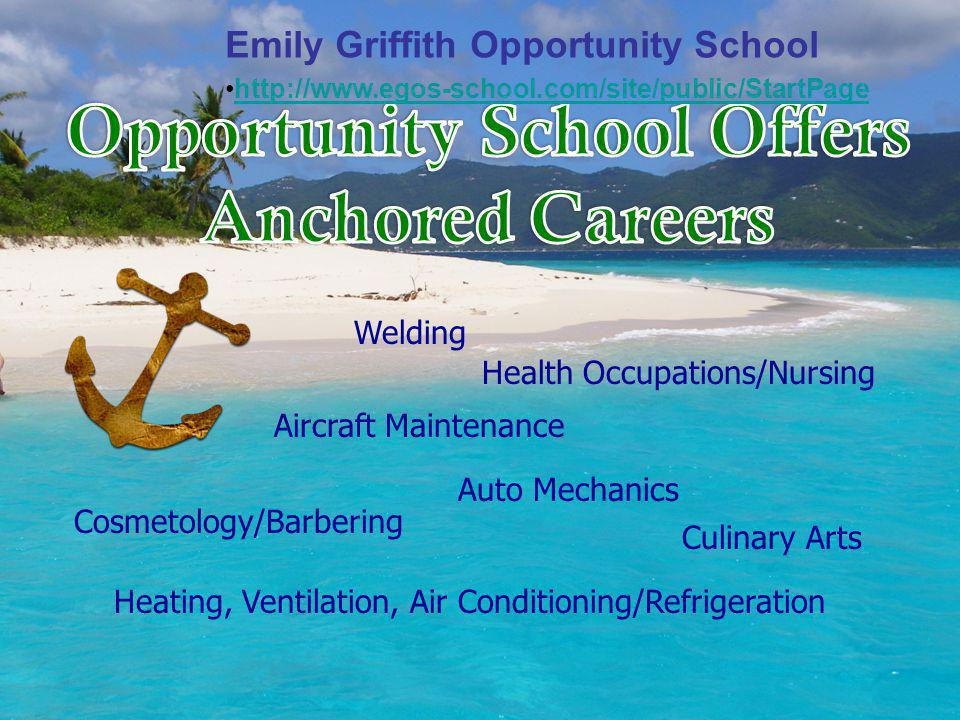 Education After High School Trade School – times vary - 6 months - 2 years or more Community College – 2 years A.A.