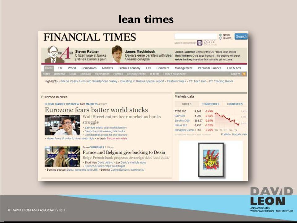 2010 lean times