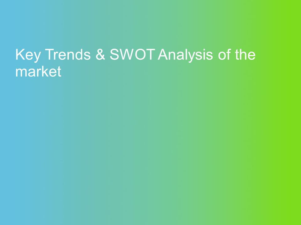 Key Trends & SWOT Analysis of the market