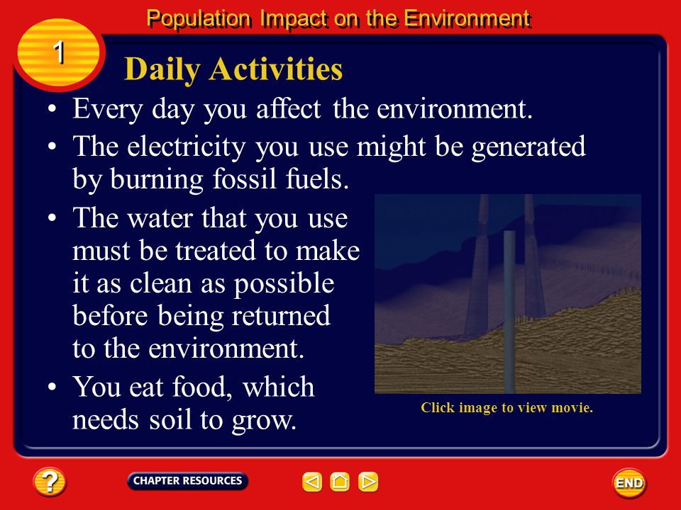 People and the Environment If you live in the United States, you will have used several times as much energy as an average person living elsewhere in