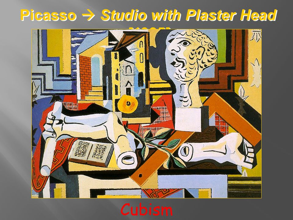 Picasso Studio with Plaster Head [1925] Cubism