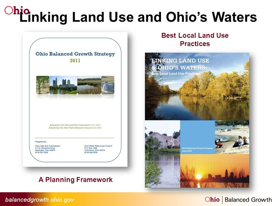 Linking Land Use and Ohios Waters A Planning Framework Best Local Land Use Practices