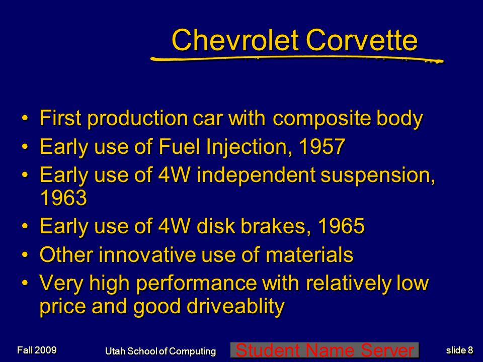 Student Name Server Utah School of Computing slide 39 Fall 2009 Browning M2 50 Caliper