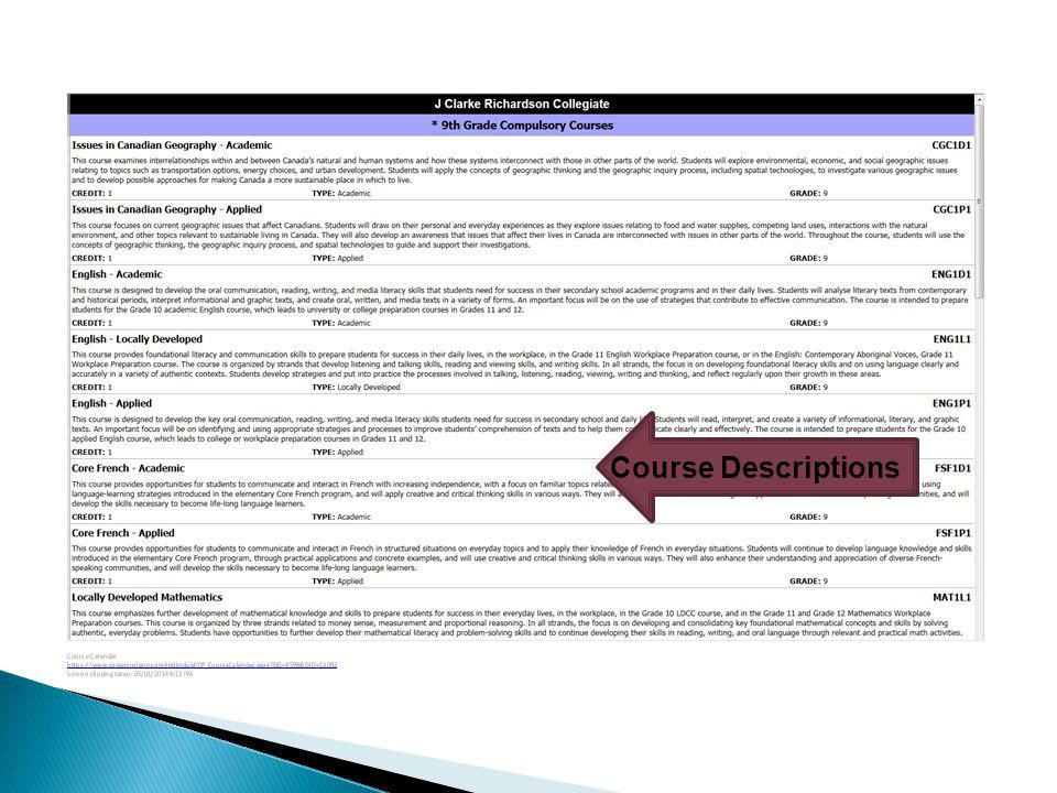 Course Descriptions