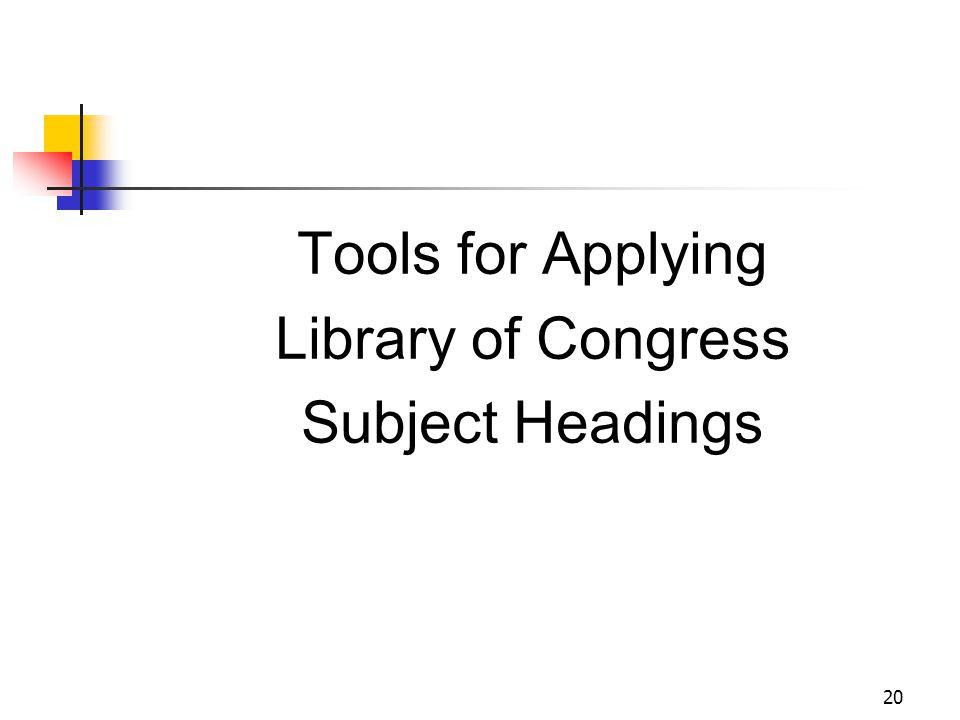 LCSH: OCLC Connexion Browser