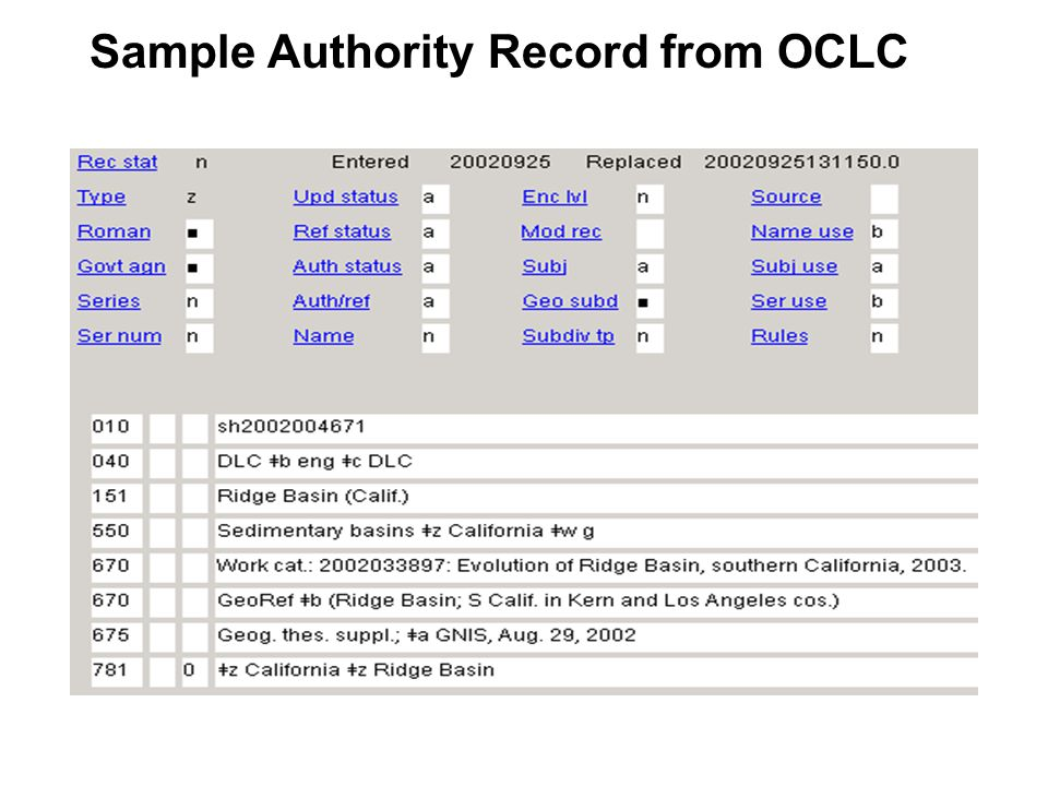 Subject Authority Records Where can catalogers find subject authority records.