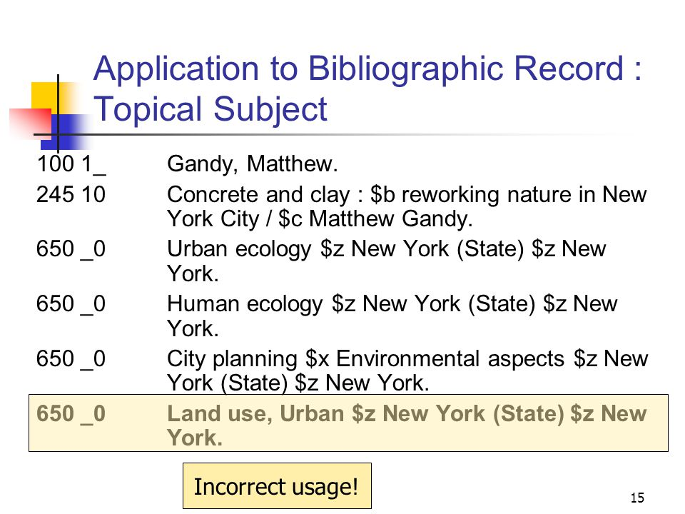 Application to Bibliographic Record : Topical Subject 100 1_ Feagin, Joe R.