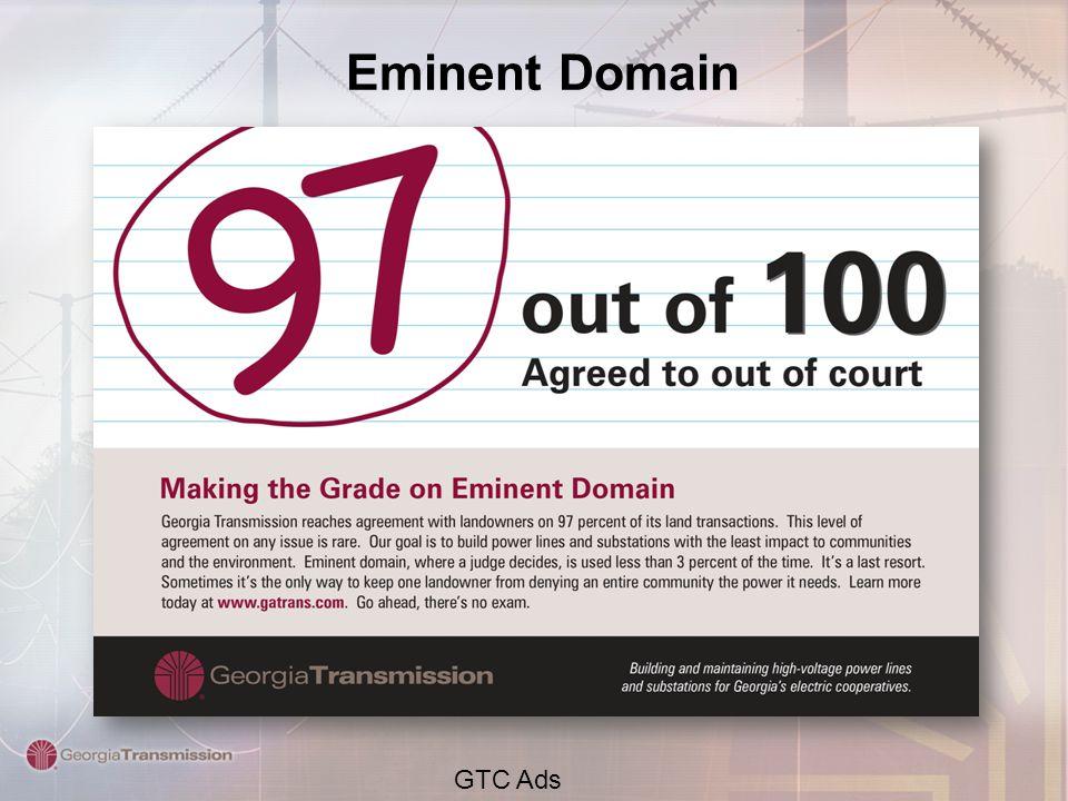 Eminent Domain GTC Ads