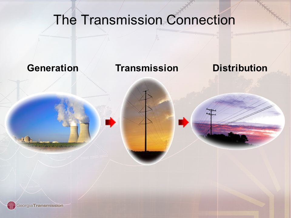 The Transmission Connection GenerationDistributionTransmission