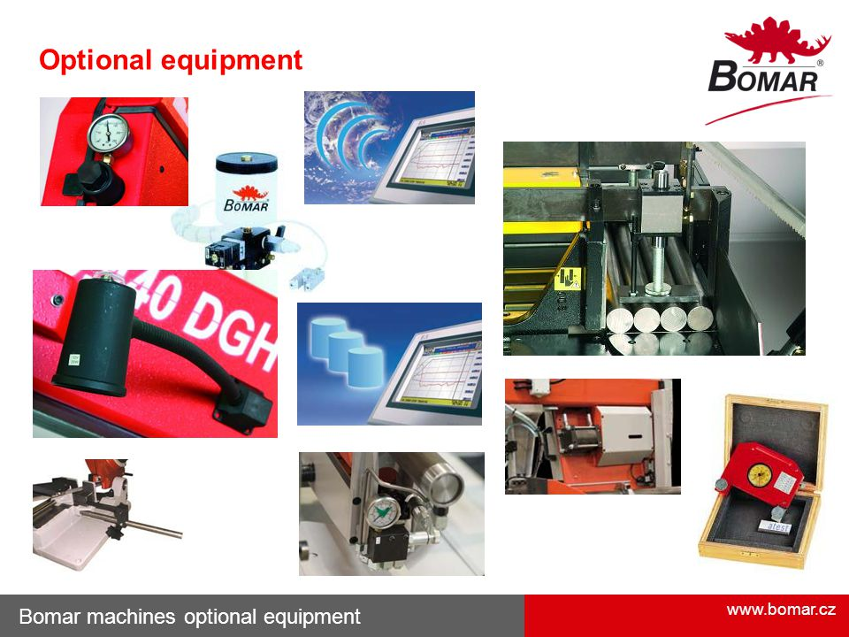www.bomar.cz Bomar machines optional equipment Optional equipment