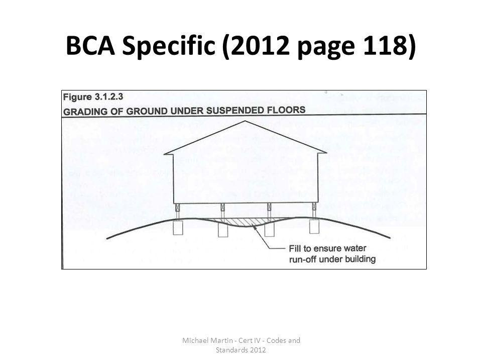 BCA Specific (2012 page 118) Michael Martin - Cert IV - Codes and Standards 2012