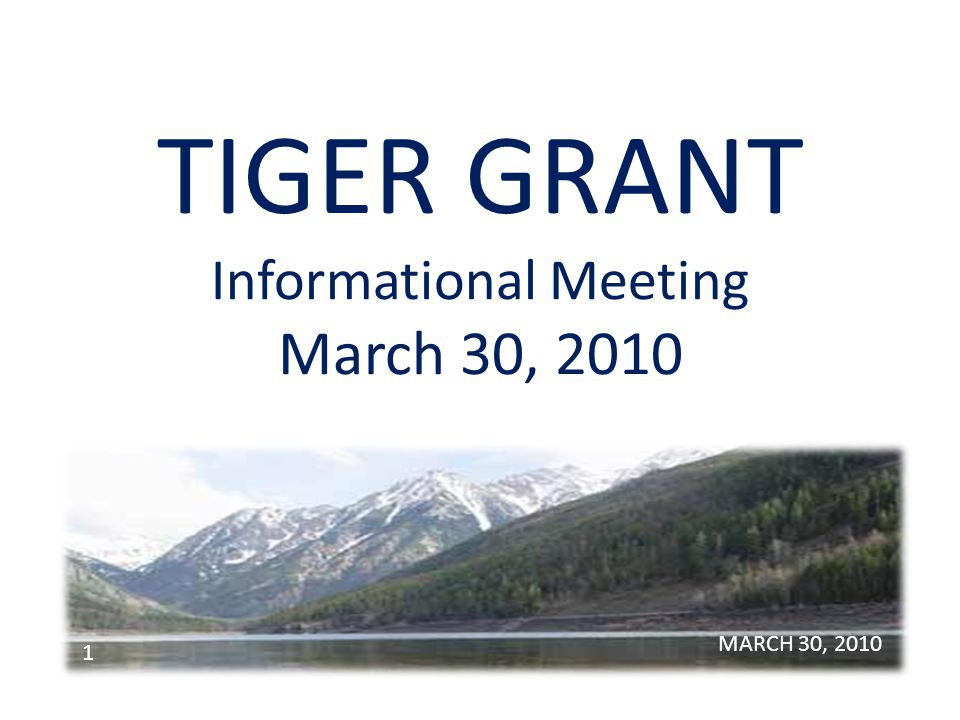 TIGER GRANT AGENDA o Introduction Paddy Trusler – Lake County Commissioner o Schedule of Events Bill Barron – Lake County Commissioner o Skyline Project Todd Crossett - Polson City Manager MARCH 30, 2010 2