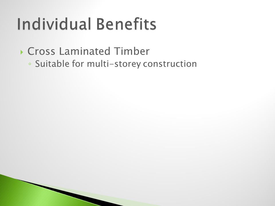 Cross Laminated Timber Suitable for multi-storey construction