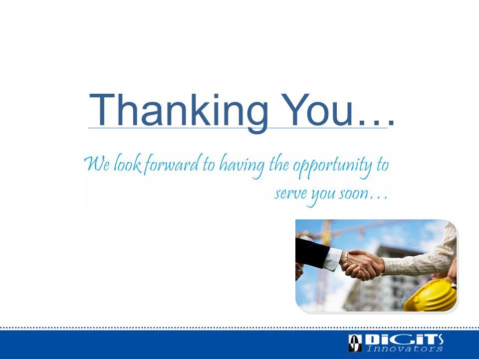 Thanking You…