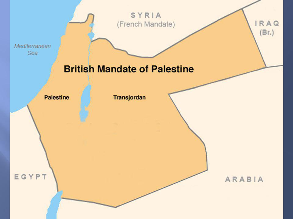 World War II and Holocaust 1939 – 1945 Partition (UN Resolution 181)1947 Jerusalem an international city 56% of territory to Israel including Negev 43% to Arabs including 1/3 of coastline and all highlands State of Israel established in 1948 Arab-Israeli War