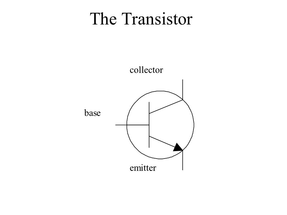 The Transistor base collector emitter