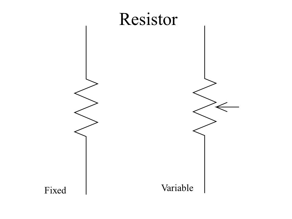 Resistor Fixed Variable