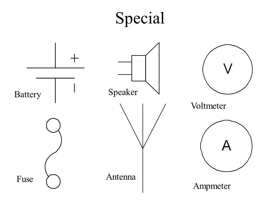Special Battery Speaker Voltmeter Ampmeter Antenna Fuse