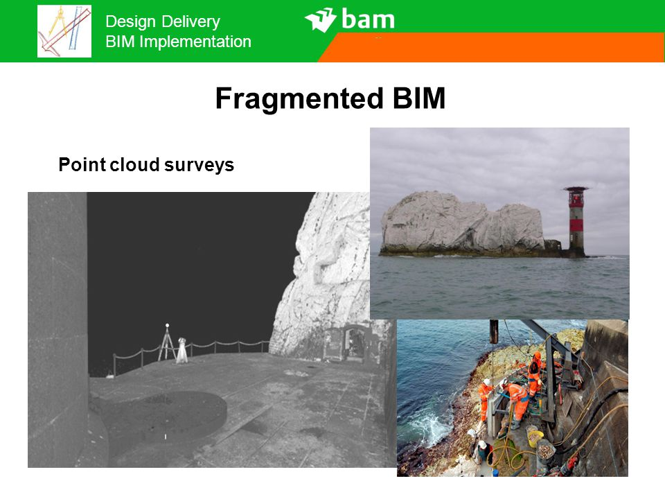 Design Delivery BIM Implementation Fragmented BIM Point cloud surveys