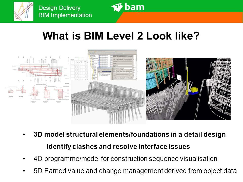 Design Delivery BIM Implementation What is BIM Level 2 Look like.