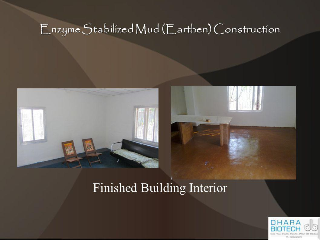 Enzyme Stabilized Mud (Earthen) Construction Finished Building Interior