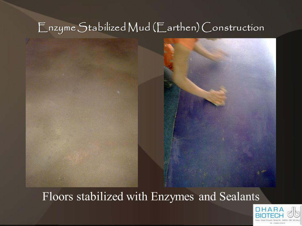 Enzyme Stabilized Mud (Earthen) Construction Floors stabilized with Enzymes and Sealants