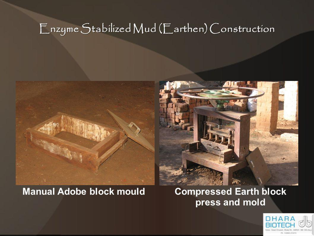 Enzyme Stabilized Mud (Earthen) Construction Manual Adobe block mouldCompressed Earth block press and mold