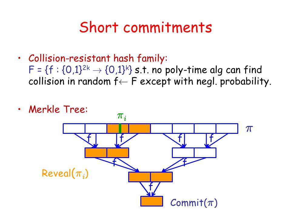Argument PCP: Construction (Honest) PCP proof-oracle P pcp : next-msg function of argument prover P arg PCP Verifier: 1.Run V arg with P pcp.