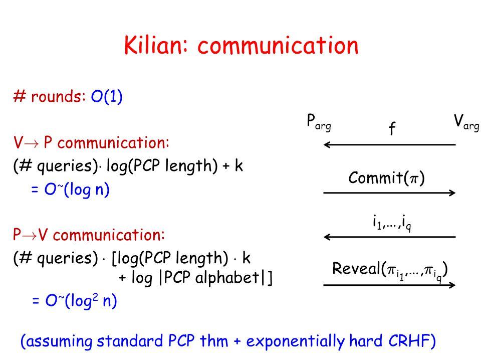 Argument PCP: Soundness PCP Verifier: 1.Run V arg with P pcp.