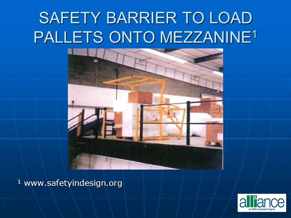 SAFETY BARRIER TO LOAD PALLETS ONTO MEZZANINE 1 1 www.safetyindesign.org