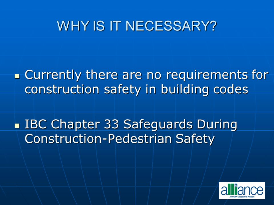 COURSE OBJECTIVES To provide design and construction professionals with skills to identify construction safety hazards To provide design and construction professionals with skills to identify construction safety hazards To provide design and construction To provide design and construction professionals with skills to eliminate or reduce the risk of a serious injury in the design phase professionals with skills to eliminate or reduce the risk of a serious injury in the design phase