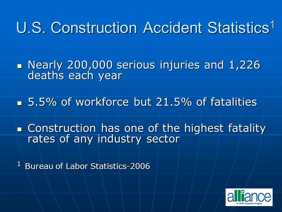 CONSTRUCTION ACCIDENTS IN U.S. 1 1 Photos courtesy of Washington Group International