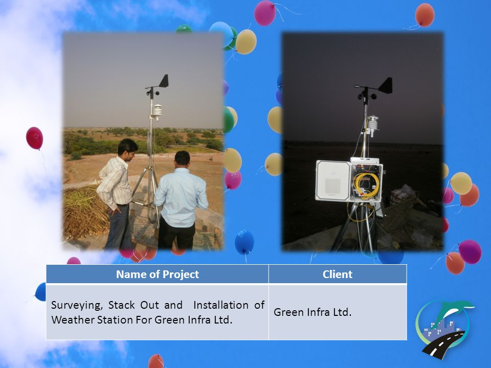 Name of ProjectClient Surveying, Stack Out and Installation of Weather Station For Green Infra Ltd.