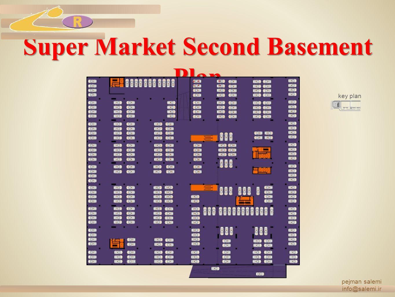 Super Market Second Basement Plan pejman salemi info@salemi.ir key plan
