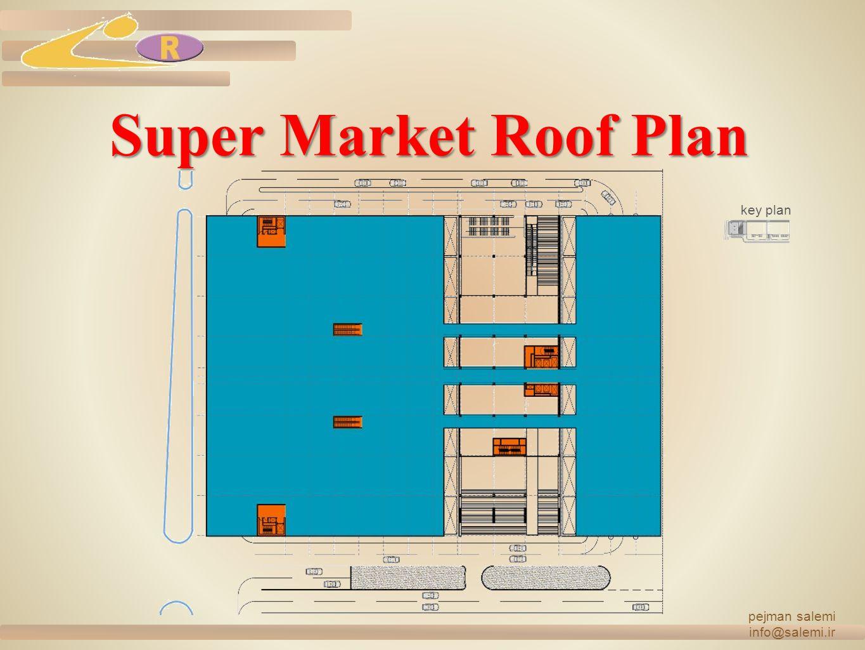 Super Market Roof Plan pejman salemi info@salemi.ir key plan