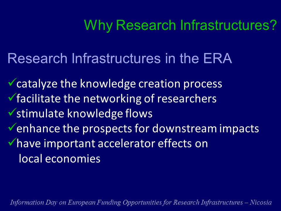 Why Research Infrastructures.