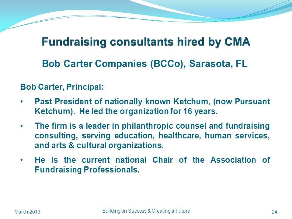 Bob Carter Companies (BCCo), Sarasota, FL Bob Carter, Principal: Past President of nationally known Ketchum, (now Pursuant Ketchum).