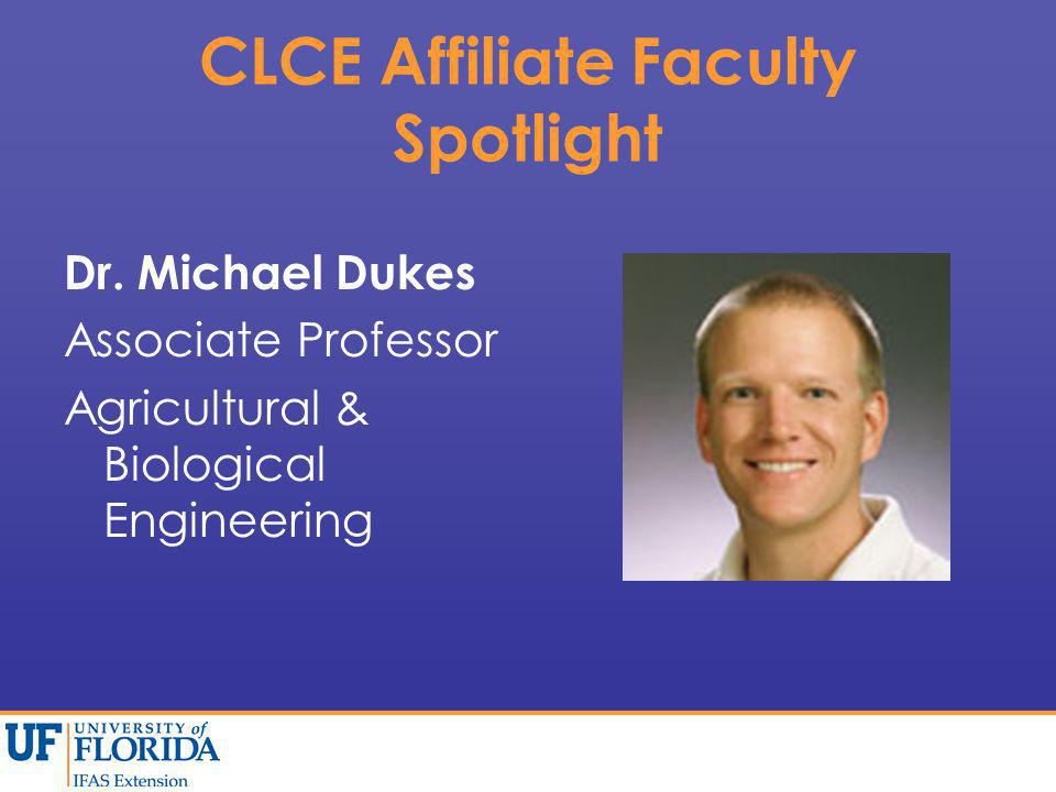 CLCE Affiliate Faculty Spotlight Dr.