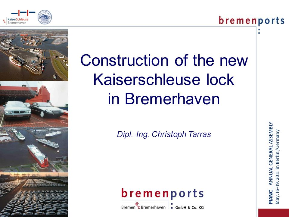 Kaiserschleuse lock Nordschleuse lock Container terminal Harbours Bremerhaven (detail) Overseas harbours Germany