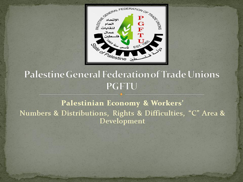 Palestinian Economy & Workers Numbers & Distributions, Rights & Difficulties, C Area & Development