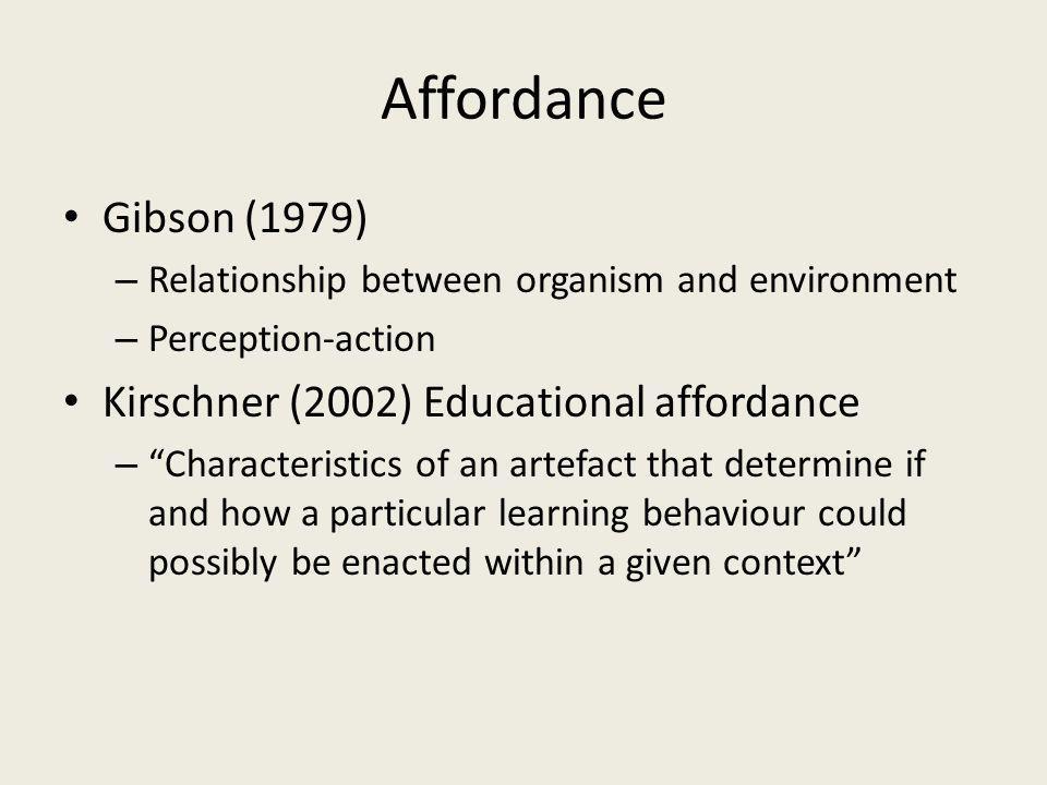 Educational affordances of Second Life.