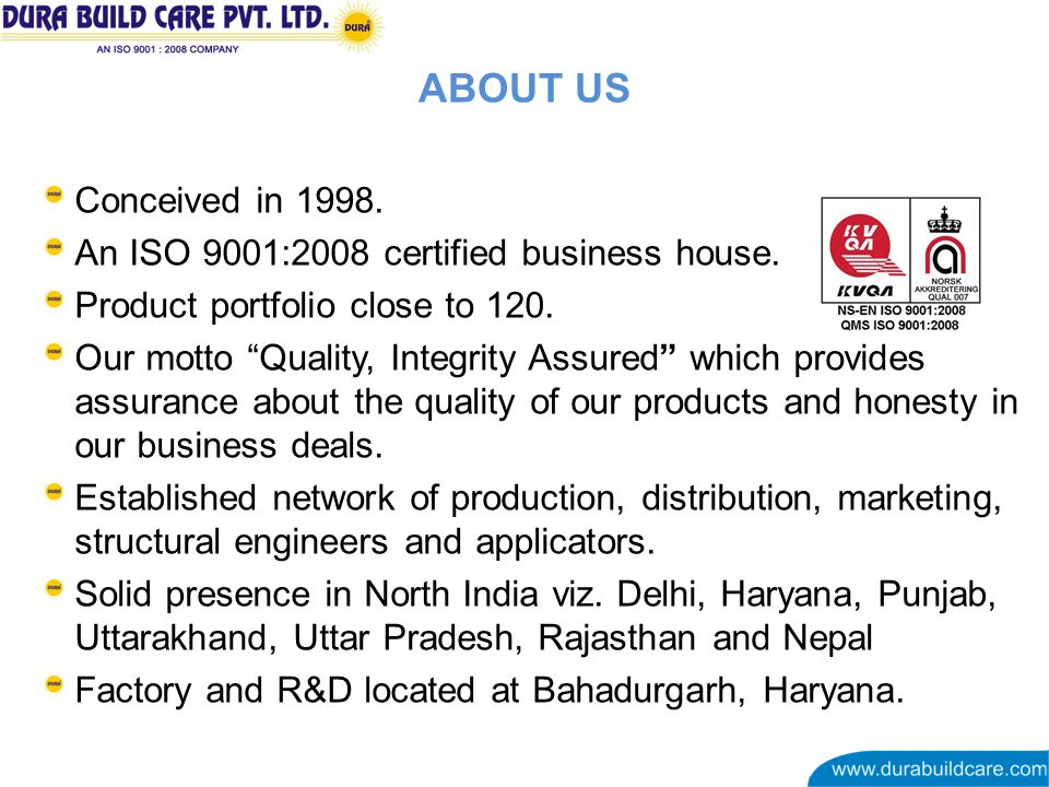 Conceived in 1998. An ISO 9001:2008 certified business house.