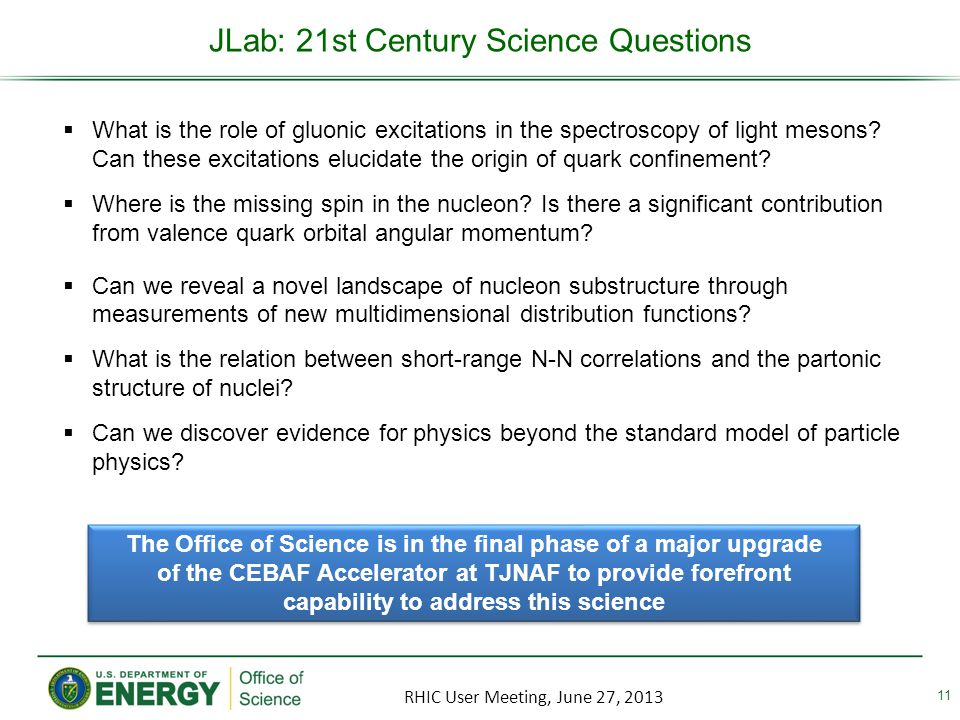 JLab: 21st Century Science Questions 11 What is the role of gluonic excitations in the spectroscopy of light mesons.