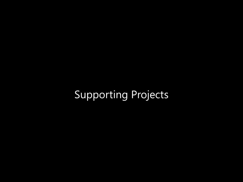 Supporting Projects
