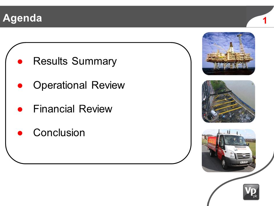 Results Summary Operational Review Financial Review Conclusion Agenda 1