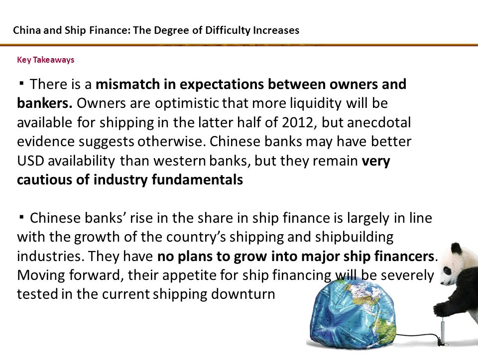 Key Takeaways There is a mismatch in expectations between owners and bankers.